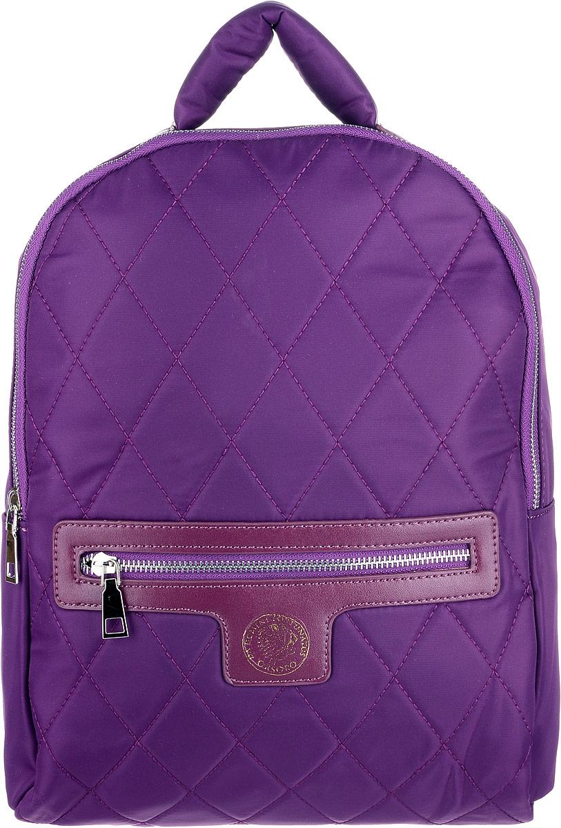 Рюкзак женский OrsOro, цвет: фиолетовый. D-261/3BP-001 BKВместительный текстильный рюкзак OrsOro имеет одно отделение на молнии, внутри которого находятся два накладных кармашка под сотовый телефон или для мелочей и один прорезной карман на застежке-молнии. Снаружи обнаруживается объемный передний карман на молнии. Рюкзак обладает удобной и очень мягкой ручкой сверху для переноски и двумя регулируемыми прочными плечевыми ремнями-лямками. Яркий рюкзак из высокопрочного текстиля будет не только модным акцентом, но и очень практичным приобретением.