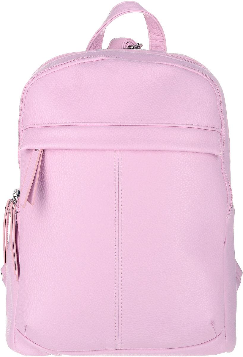 Рюкзак женский OrsOro, цвет: розовый. D-237/20D-237/20Футуристический рюкзак OrsOro исполнен из экокожи высокого качества. Имеет два отделения на молнии. В первом, более объемном отделении присутствуют накладной широкий карман для мелочей и один прорезной карман на застежке-молнии. Во втором два накладных кармашка под сотовый телефон или для мелочей, так же его можно использовать для переноски планшета. Рюкзак обладает удобной ручкой сверху для переноски и двумя регулируемыми плечевыми ремнями-лямками. Снаружи, спереди и сзади, так же имеются два прорезных кармана на застежке-молнии.