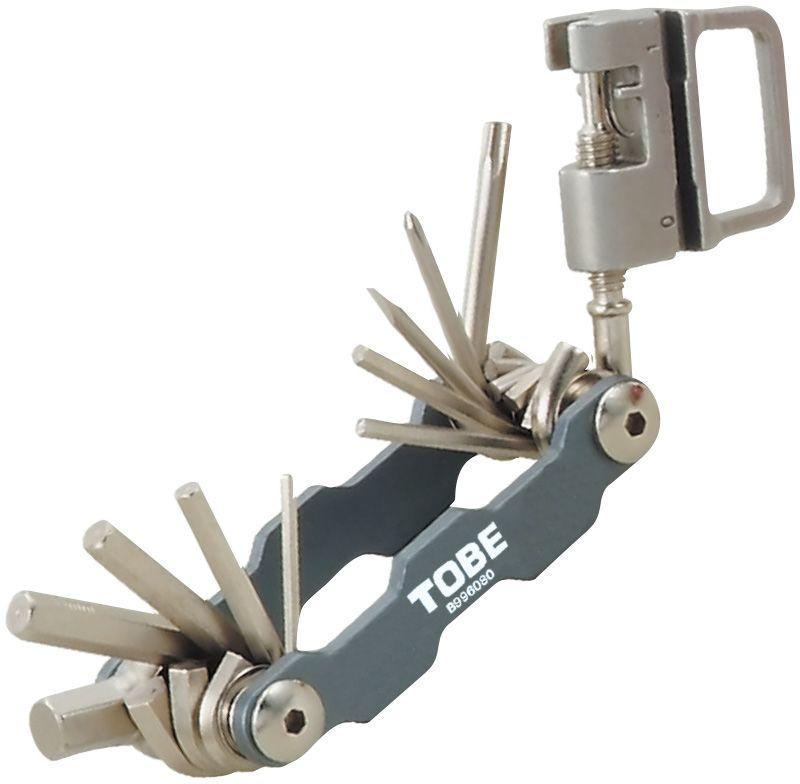 Складной инструмент To Be, 15 в 1. 21206056Складные инструменты B996080 Особенности: 6-гранные торцовые ключи на 2/2,5/3/4/5/6/8 мм; Отвертка (+)/(-);Выжимка цепных заклепок;Т25;Спицевый ключ 0,127/0,136/0,130/0,136.