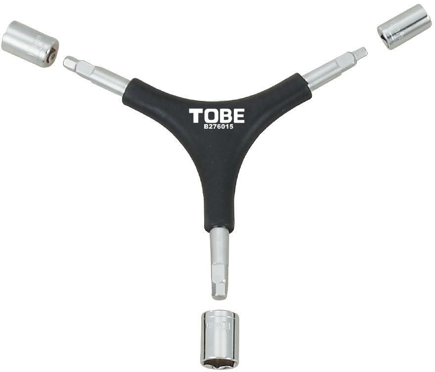 Ключ шестигранный To Be, Y-образный. 21366056Шестигранные ключи B276015 6-гранный 4/5/6 мм. Накидной ключ 8/10/12 мм.