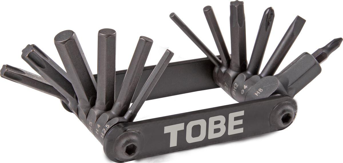 Складной инструмент To Be, 14 в 1. 21432143Складные инструменты B976070 Особенности: шестигранники 2/2.5/3/4/5/6/8мм , Т25/Т27/Т30, отвертки +1/+2/-3/-4