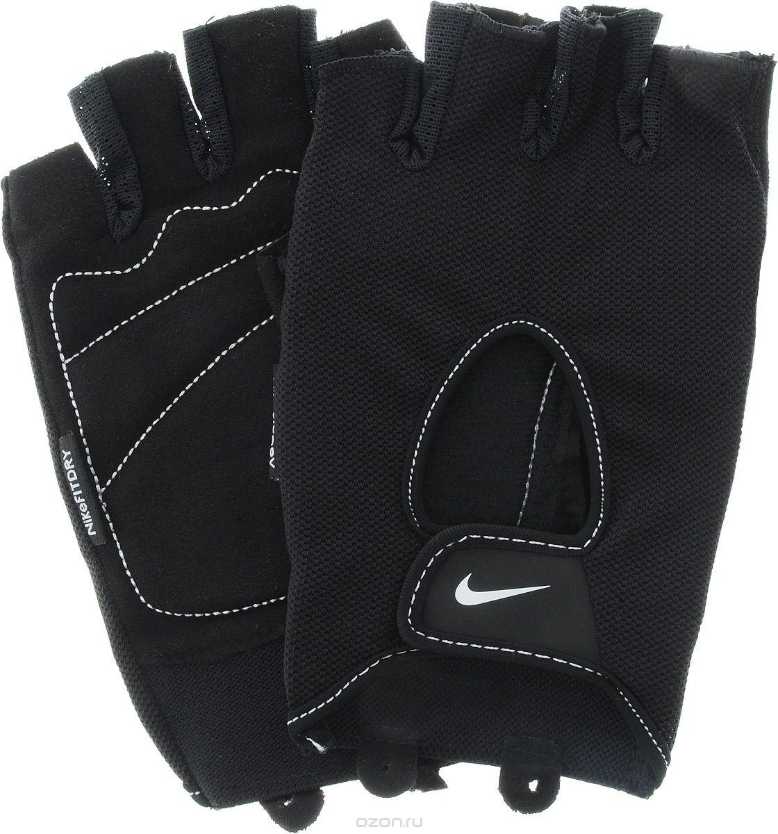 """Перчатки для фитнеса мужские Nike """"Men's Fundamental Training Gloves"""", цвет: черный. Размер L 9.092.053.037."""