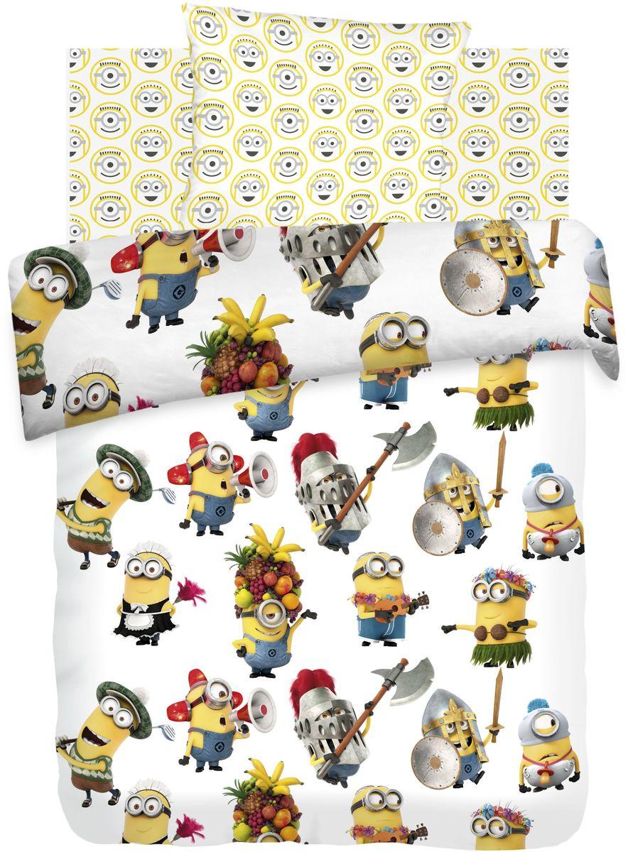 Комплект детского постельного белья Миньоны Вечеринка, 1,5-спальный, наволочки 70х70385449