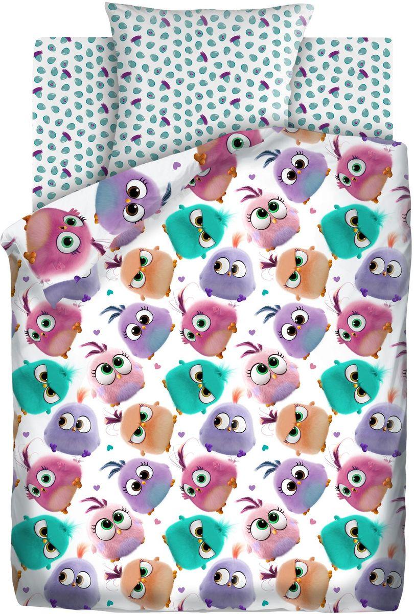 Комплект детского постельного белья Angry Birds Птенцы, 1,5-спальный, наволочки 70х70411119