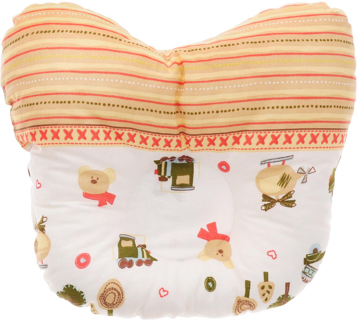 Сонный гномик Подушка анатомическая для младенцев Машинки и мишки 27 х 27 смS03301004Анатомическая подушка для младенцев Сонный гномик Машинки и мишки изготовлена из бязи - 100% хлопка. Наполнитель - синтепон в гранулах (100% полиэстер).Подушка компактна и удобна для пеленания малыша и кормления на руках, она также незаменима для сна ребенка в кроватке и комфортна для использования в коляске на прогулке. Углубление в подушке фиксирует правильное положение головы ребенка.Подушка помогает правильному формированию шейного отдела позвоночника.