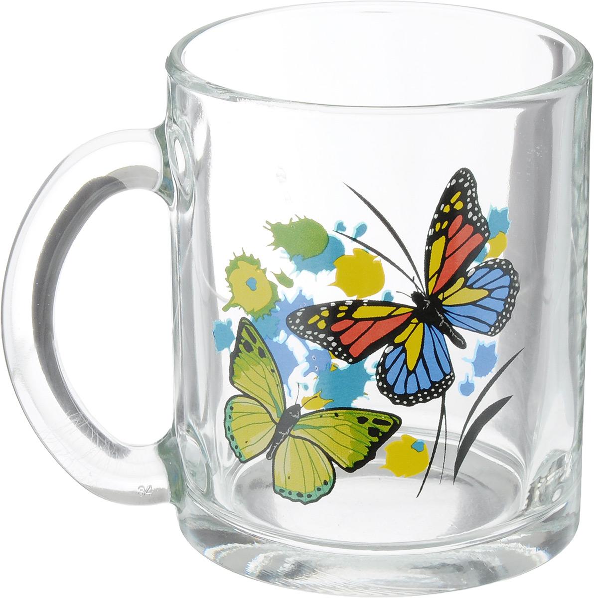 Кружка OSZ Чайная. Танец бабочек, 320 мл04C1208-TBM_вид 2Кружка OSZ Чайная. Танец бабочек изготовлена из прозрачного стекла и украшена красивым рисунком. Изделие идеально подходит для сервировки стола. Кружка не только украсит ваш кухонный стол, но и подчеркнет прекрасный вкус хозяйки. Диаметр кружки (по верхнему краю): 8 см. Высота кружки: 9,5 см. Объем кружки: 320 мл.