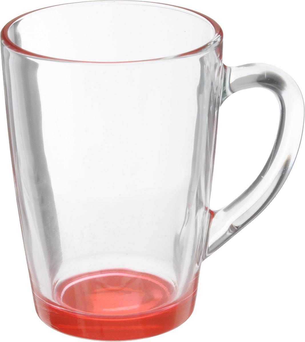 Кружка OSZ Капучино, цвет: прозрачный, красный, 300 мл. 07C1334LM07C1334LMКружка OSZ Капучино изготовлена из стекла двух цветов. Изделие идеально подходит для сервировки стола. Кружка не только украсит ваш кухонный стол, но и подчеркнет прекрасный вкус хозяйки. Диаметр кружки (по верхнему краю): 8 см. Высота кружки: 11 см. Объем кружки: 300 мл.