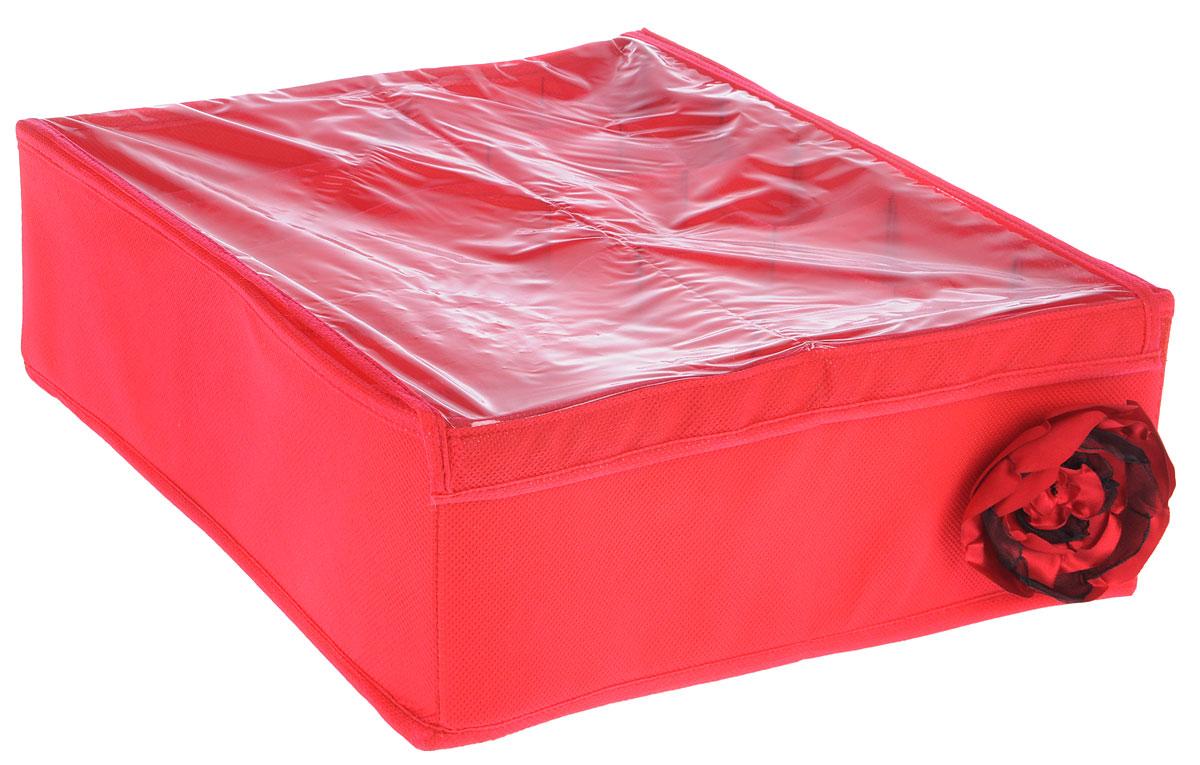 Органайзер универсальный Все на местах Классика, 15 секций, с крышкой, цвет: красный, 32 х 32 х 11 смUP210DFОрганайзер поможет упорядочить размещение небольших вещей. Изделие выполнено из высококачественного нетканого материала, который обеспечивает естественную вентиляцию, позволяя воздуху проникать внутрь, но не пропускает пыль. Вставки из ПВХ хорошо держат форму. Изделие содержит 15 секций, дополнено прозрачной крышкой на липучках. Органайзер легко раскладывается и складывается. Оригинальный дизайн придется по вкусу ценителям эстетичного хранения. Размер органайзера в разложенном виде: 32 х 32 х 11 см.