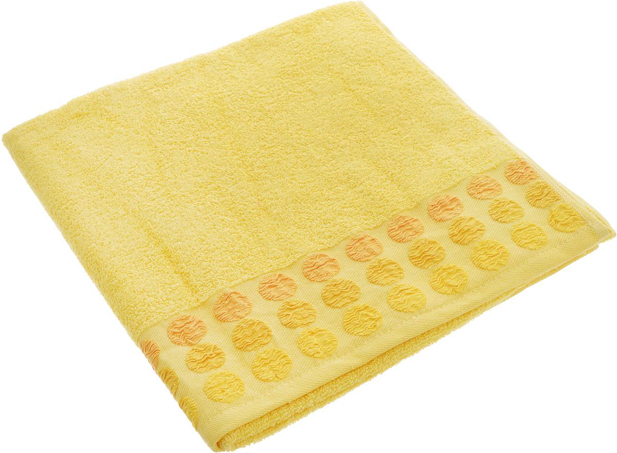 Полотенце Brielle Point, цвет: желтый, 70 х 140 см1208Полотенце Brielle Point выполнено из 100% хлопка. Изделие очень мягкое, оно отлично впитывает влагу, быстро сохнет, сохраняет яркость цвета и не теряет формы даже после многократных стирок. Модель оформлена рисунком. Полотенце Brielle Point очень практично и неприхотливо в уходе. Такое полотенце послужит приятным подарком.