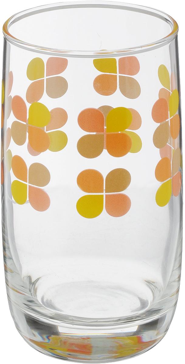 Стакан OSZ Клевер, цвет: прозрачный, желтый, оранжевый, 330 млVT-1520(SR)Стакан OSZ Клевер изготовлен из стекла. Идеально подходит для сервировки стола.Стакан не только украсит ваш кухонный стол, но и подчеркнет прекрасный вкус хозяйки. Диаметр стакана (по верхнему краю): 6,5 см. Диаметр основания: 5 см. Высота стакана: 12,5 см.