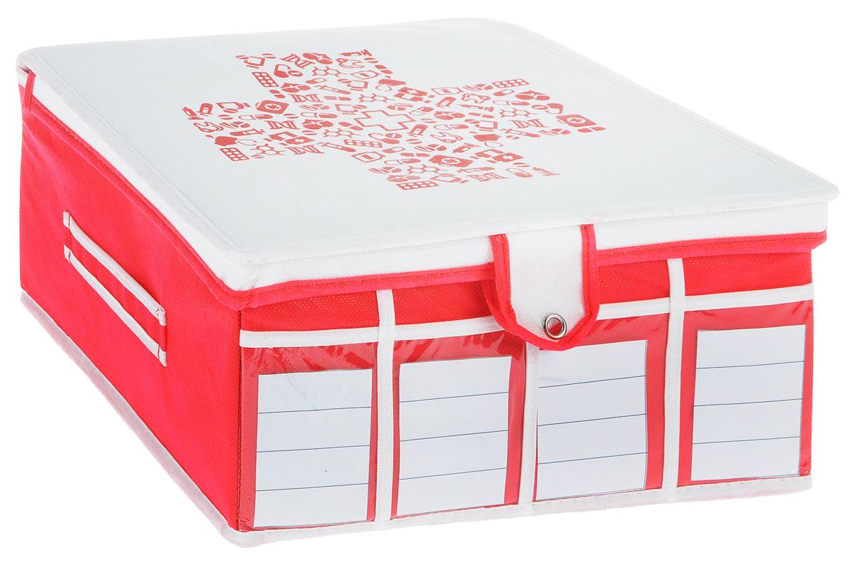 Аптечка домашняя Все на местах Comfort, универсальная, 32 х 32 х 15 смUP210DFКомпактная складная аптечка с крышкой на кнопкеизготовлена из высококачественного нетканого материала, которыйобеспечивает естественную вентиляцию. Материалпозволяет воздуху свободно проникать внутрь, но непропускает пыль. Органайзер отлично держит форму,благодаря вставкам из ПВХ. Изделие имеет 30 секций для хранения лекарств.