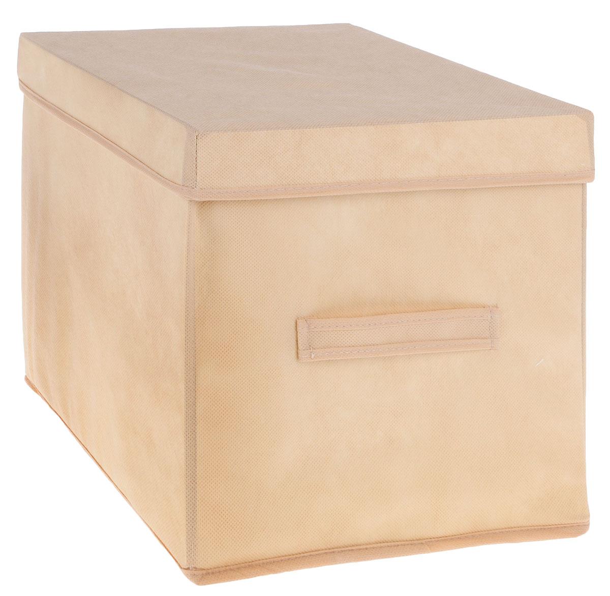 Коробка для вещей и игрушек Все на местах Minimalistic, с крышкой, цвет: бежевый, 30 х 30 х 30 см1011036Коробка с крышкой Minimalistic выполнена из высококачественного нетканого материала, который обеспечивает естественную вентиляцию и предназначен для хранения вещей или игрушек. Он защитит вещи от повреждений, пыли, влаги и загрязнений во время хранения и транспортировки. Размер коробки: 30 х 30 х 30 см.