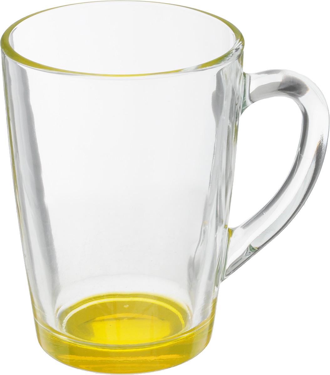 Кружка OSZ Капучино, цвет: прозрачный, желтый, 300 мл. 07C1334LM115510Кружка OSZ Капучино изготовлена из стекла двух цветов. Изделие идеально подходит для сервировки стола.Кружка не только украсит ваш кухонный стол, но и подчеркнет прекрасный вкус хозяйки. Диаметр кружки (по верхнему краю): 8 см. Высота кружки: 11 см. Объем кружки: 300 мл.
