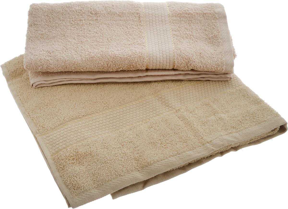 Набор махровых полотенец Aisha Home Textile, цвет: кофе с молоком, бежевый, 70 х 140 см, 2 штУзТ-ПМ-104-03-23_кофе с молоком, бежевыйНабор Aisha Home Textile состоит из двух махровых полотенец, выполненных из натурального 100% хлопка. Изделия отлично впитывают влагу, быстро сохнут, сохраняют яркость цвета и не теряют формы даже после многократных стирок. Полотенца Aisha Home Textile очень практичны и неприхотливы в уходе. Комплектация: 2 шт.