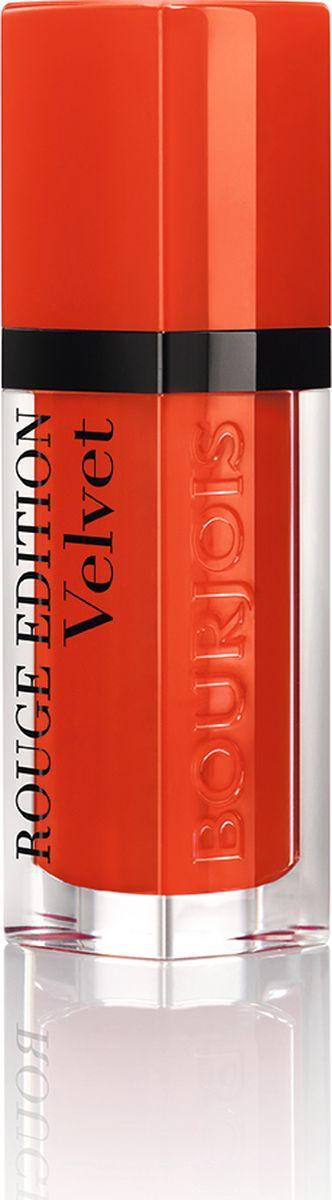 Bourjois Флюид Для Губ Бархатный Rouge Edition Velvet Тон 2029101273020Помада с матовым эффектом, обладает кремообразной текстурой, абсолютно неощутима на губах. Стойкость до 16 часов.