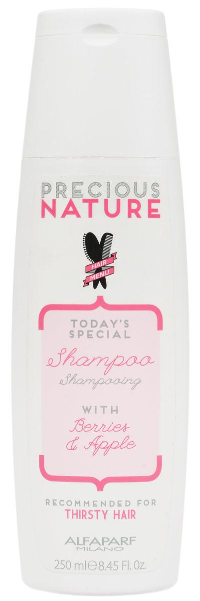 Alfaparf Precious Nature Shampoo Dry and Thirsty Hair Шампунь для сухих волос испытывающих жажду, 250 мл14716Мягкий шампунь интенсивно питает и возвращает волосам утраченную жизненную силу и сияние, не утяжеляет. Входящий в состав экстракт ягод* позволяет защитить волосы от негативного влияния окружающей среды, а экстракт яблока* сохраняет оптимальный гидролипидный баланс, делая волосы гладкимии и блестящими. *100% натуральный ингредиент. НЕ СОДЕРЖИТ сульфатов, парабенов, парафинов, минеральных масел, синтетических веществ, аллергенов *гипоаллергенные экстракты растений и ароматизаторы Объем: 250 мл