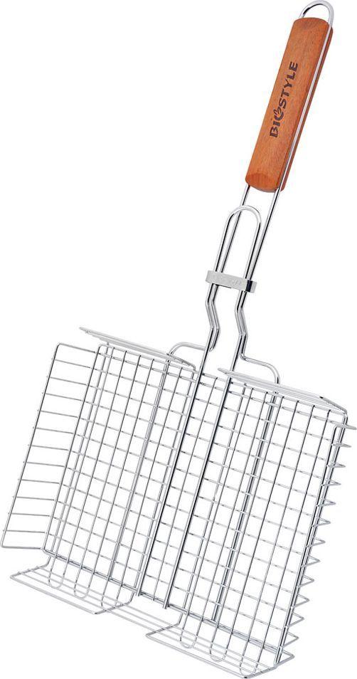 Решетка-гриль Biostyle Семейная, 28 х 22,2 см101-204Объемная решетка-гриль, благодаря своей особой форме, существенно расширяет кулинарный диапазон блюд приготовленных на углях - картофель, кабачки, куриные окорочка, большие куски мясо, котлеты можно запекать в ней целиком. Высота ее регулируется от 0,5 до 4.5 см. Толщина прута 2 мм.