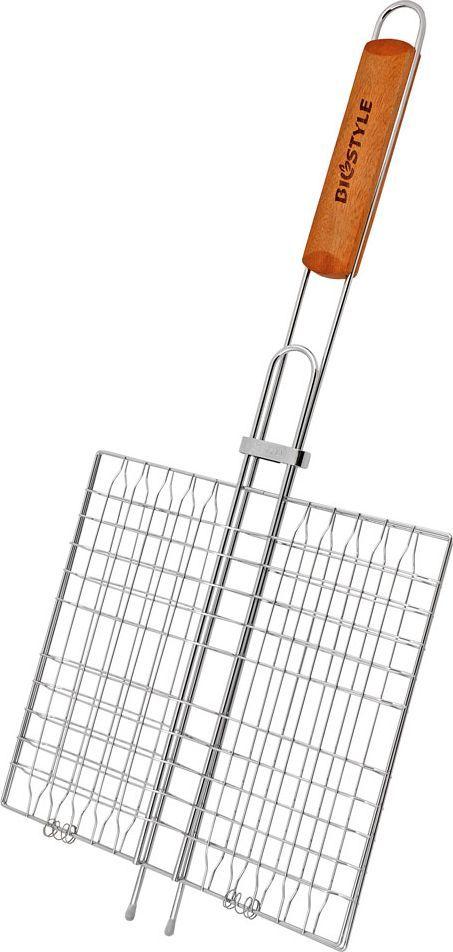 Решетка-гриль Biostyle Туристическая, 26,5 х 24 см101-206Форма универсальной решетка-гриль разделенна на 6 секции. Это позволяет одновременно приготовить несколько видов блюд, избегая прикосновения продуктов между собой. Толщина прута 2 мм.