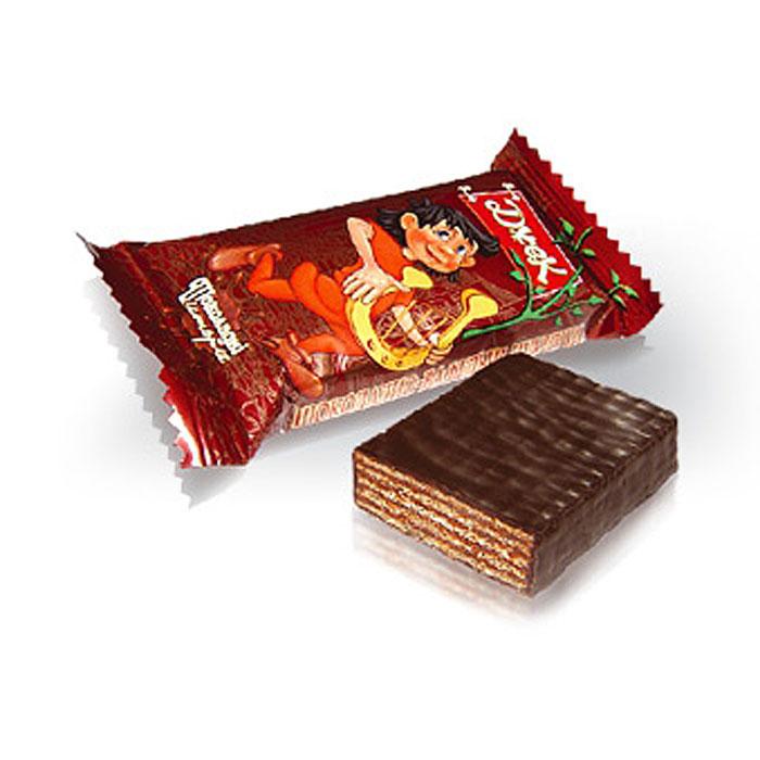 Konti Джек конфеты шоколадные вафельные, 520 г4600495524720Укрупненные глазированные конфеты с насыщенным вкусом какао. Основу конфет составляют нежные, тонкие и хрустящие вафельные листы, переслоенные начинкой, всего девять слоев.