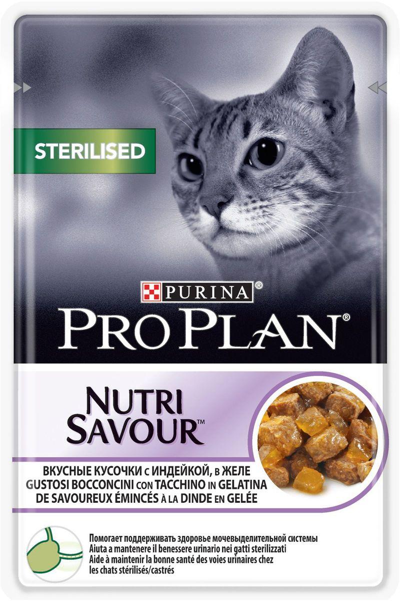 Консервы Pro Plan Sterilised для взрослых стерилизованных кошек и кастрированных котов, с индейкой, 85 г61396Для взрослых стерилизованных кошек. Нежные кусочки с курицей в соусе. Поддерживает оптимальный вес кошки. Содержит антиоксиданты для естественной защиты организма. МЕ/кг: витамин A: 1204; витамин D3: 168; витамин E: 342. Мг/кг: таурин: 519; железо: 11,49; йод: 0,43; медь: 1,09; марганец: 2,01; цинк: 31,12; селен: 0,025. Влажность: 78%, белок: 13%, жир: 3,3%, сырая зола: 2%, сырая клетчатка: 0,5%.