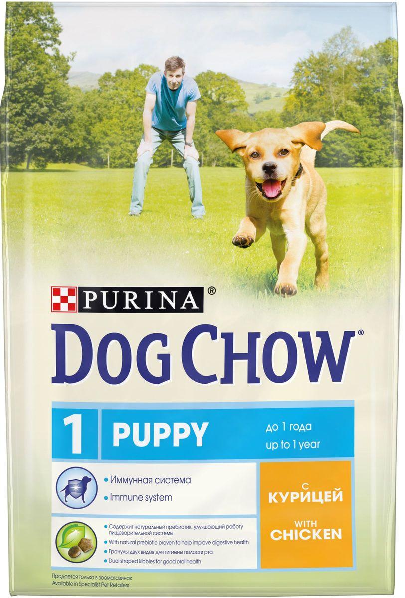 Корм сухой Dog Chow Puppy для щенков до 1 года, с курицей, 2,5 кг0120710Каждый день жизни щенка полон приключений, требующих больших затрат энергии. Корм PURINA® DOG CHOW® Puppy для щенков – это 100% сбалансированное питание, сочетающее мясо, важнейшие минеральные элементы и витамины, которые помогают щенку расти здоровым, сильным и готовым к новым испытаниям.Этот корм подходит также для взрослых собак мелких пород и собак в период беременности и вскармливания. МЕ/кг: витамин А: 22 600, витамин D3: 1 300, витамин Е: 105. Мг/кг: железо: 93,8; йод: 2,3; медь: 10,4; марганец: 7,1; цинк: 168,6; селен: 0,23. Белок: 28%, жир: 14%, сырая зола: 7,5%, сырая клетчатка: 2,5%, Докозагексаеновая кислота: 0,05%.