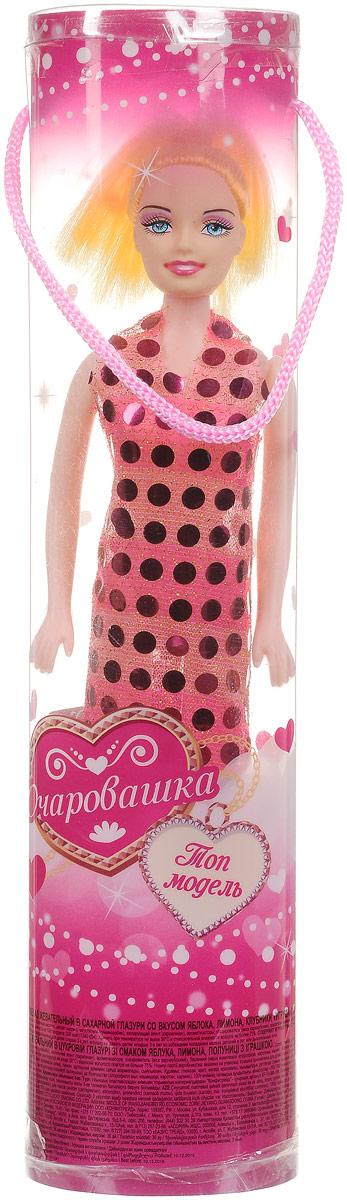 Конфитрейд Очаровашка Кукла фруктовый мармелад с игрушкой, 10 гУТ17568Кукла из пластика в одежде из текстильных материалов в пластиковой тубе. Высота куклы - 26 см. Игрушка предназначена для детей старше трех лет. В комплект входит жевательный мармелад в сахарной глазури со вкусом яблока, лимона и клубники. Уважаемые клиенты! Обращаем ваше внимание на возможные изменения в цвете некоторых деталей товара. Поставка осуществляется в зависимости от наличия на складе.