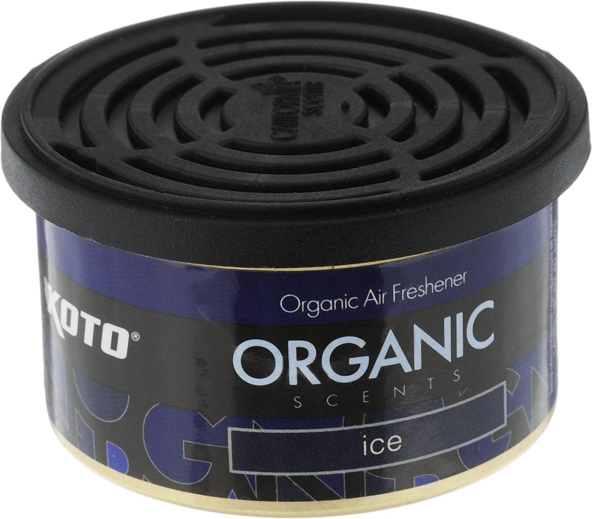Ароматизатор автомобильный Koto Organic, лед4627087520571Автомобильный ароматизатор Koto Organic эффективно устраняет неприятные запахи и придает приятный аромат.Внутри - органический наполнитель, который не растекается и не вредит окружающей среде. Ароматизатор имеет удобную крышку-регулятор, так что интенсивность аромата вы сможете настроить сами. Стойкий аромат держится около 60 дней. Ароматизатор может быть расположен как на приборной панели, так и под сиденьем автомобиля.Товар сертифицирован.