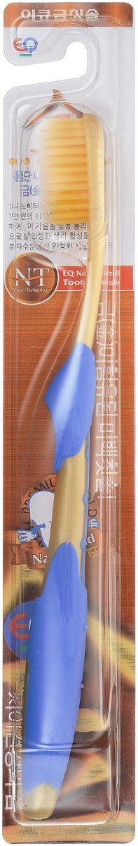 EQ MaxON Зубная щетка c наночастицами золота, сверхтонкой двойной щетиной, средняя жесткость цвет синий160225_синийEQ MaxON Зубная щетка c наночастицами золота, сверхтонкой двойной щетиной, средняя жесткость цвет синий