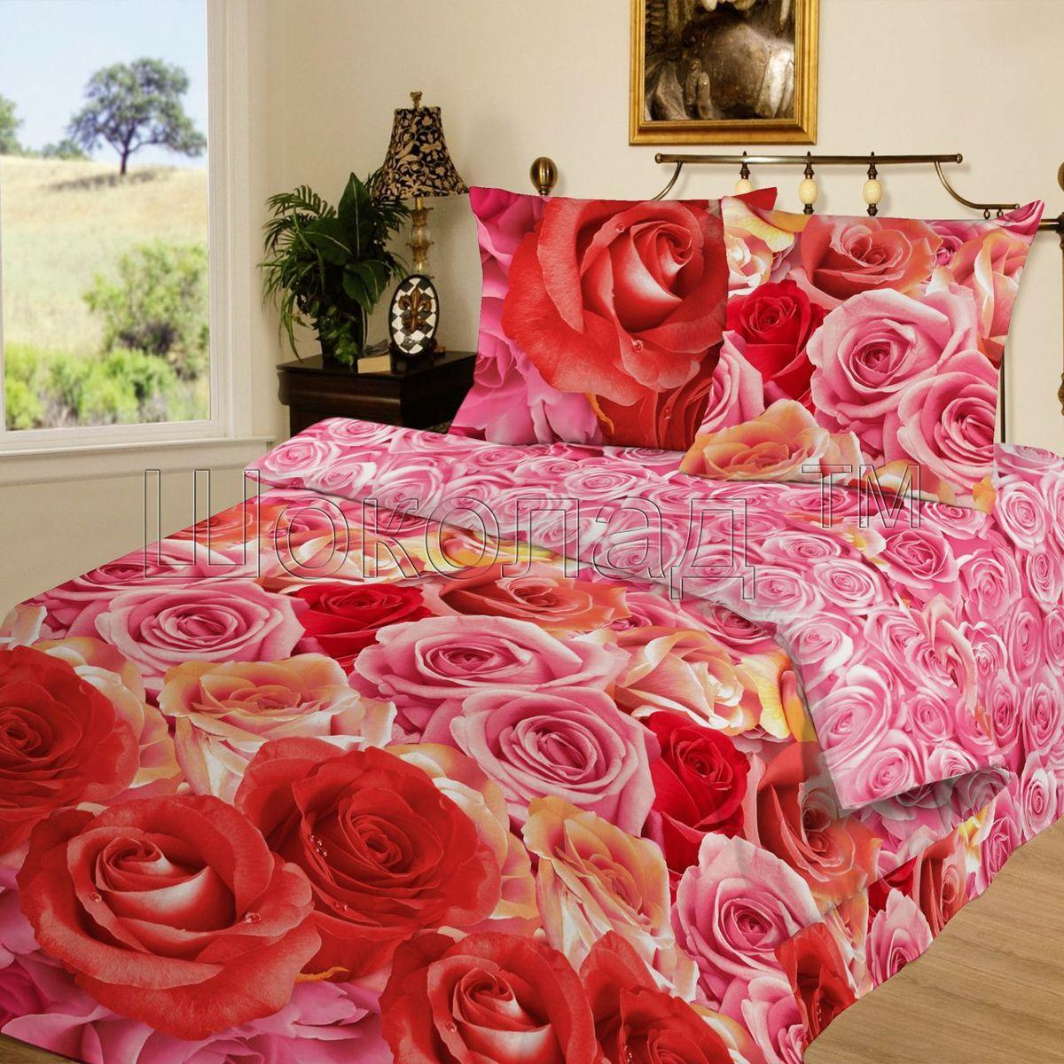 Комплект белья Шоколад Флирт, 1,5-спальный, наволочки 70x70. Б100Б100