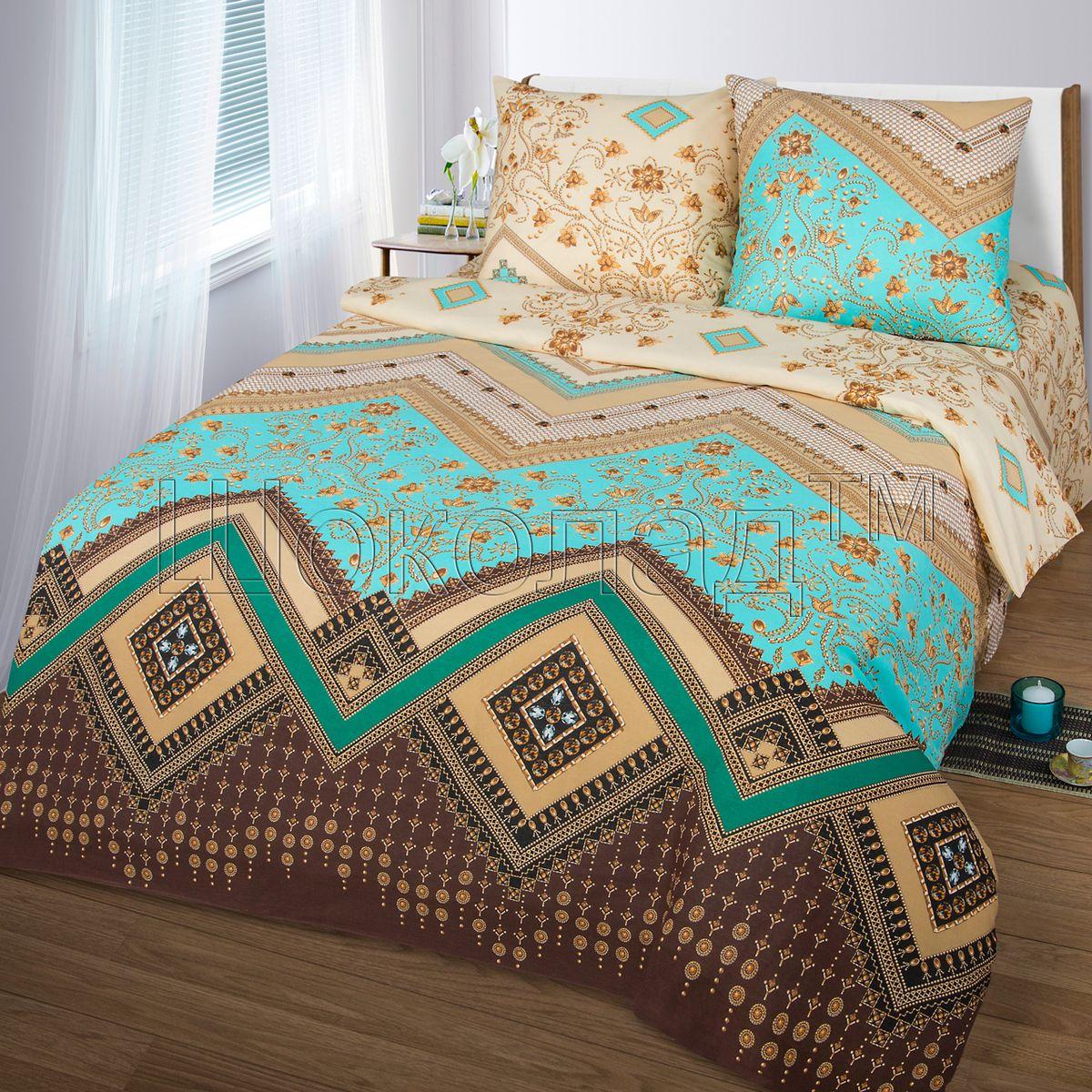 Комплект белья Шоколад Ривьера, 1,5-спальный, наволочки 70x70. Б100Б100