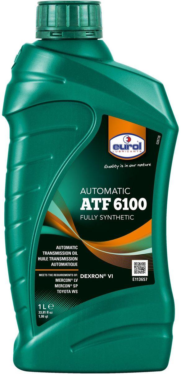Масло трансмиссионное EUROL ATF 6100 1 л2706 (ПО)Жидкость для автоматических трансмиссий General Motors. Eurol ATF 6100 - это полностью синтетическая жидкость для автоматических трансмиссий, преимущественно для General Motors. Также походит для гидроусилителей и систем гидравлики, где необходима хорошая текучесть при низких температурах. Eurol ATF 6100 имеет очень низкую температуру застывания, что обеспечивает легкое переключение при холодных запусках. Не повреждает прокладки.Eurol ATF 6100 рекомендуется для долива или полной замены жидкости в автоматических трансмиссиях, требующих DEXRON VI и/или DEXRON III.Versus DEXRON III, Eurol ATF 6100 имеет высокий и стабильных индекс вязкости и хорошо защищает от механического разрушения, коррозии и окисления. Благодаря этому, интервалы замены для новых трансмиссий GM увеличены в два раза.Eurol ATF 6100 соответствует требованиям DEXRON VI, специально разработанных для Hydra-Matic six-speed трансмиссий General Motors. Эта ATF рекомендуется для всех автоматических трансмиссий General Motors, построенных в 2006 году и позже.Спецификации и одобрения: •DEXRON VI•DEXRON III (только для GM)•DEXRON IIE (только для GM)•Toyota WS•Mercon LV•Mercon SP