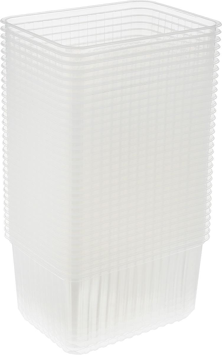 Набор контейнеров Стиролпласт, 1,5 л, 50 шПОС17496Набор контейнеров Стиролпласт, изготовленный из прочного полипропилена, отлично подходит для хранения и транспортировки пищевых продуктов. Объем: 1,5 л; Размер контейнера: 17,9 х 13,2 х 8,9 см.