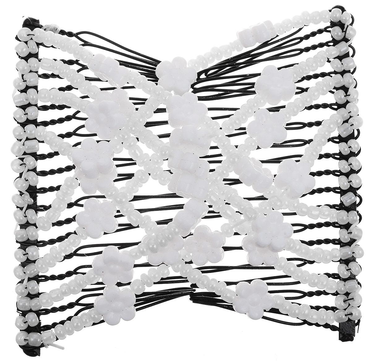 EZ-Combs Заколка Изи-Комбс, одинарная, цвет: белый, черный. ЗИО_жемчуг