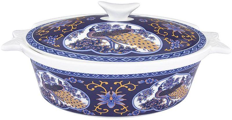 Блюдо для запекания Elan Gallery Павлин синий, с крышкой, 1,4 л181060Блюдо для запекания и сервировки украсит Ваш праздничный стол. Размер этого блюда подходит и для подачи горячего, и для приготовления и хранения слоеных салатов. Соберите всю коллекцию предметов сервировки Павлин синий и Ваши гости будут в восторге! Изделие имеет подарочную упаковку, поэтому станет желанным подарком для Ваших близких! Объем 1400 мл.