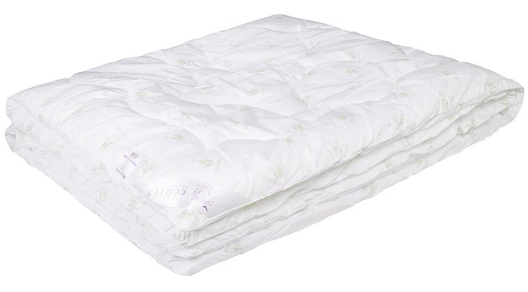 Одеяло Ecotex Алоэ вера, цвет: белый, 140 х 205 смОАВ1- экологичность; - оптимальный микроклимат во время сна; - успокаивает кожу; - прекрасная циркуляция воздуха.