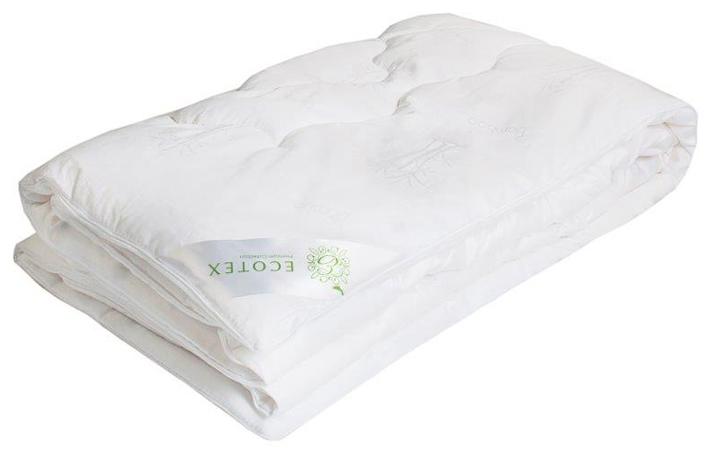 Одеяло Ecotex Бамбук, наполнитель: бамбуковое волокно, цвет: белый, 110 х 140 см10503- экологически чистый природный материал;- не вызывает раздражения;- ощущение свежести: регулирует влажность и теплообмен;- долговечность: сохраняет свои первоначальные свойства и форму после многократной эксплуатации.