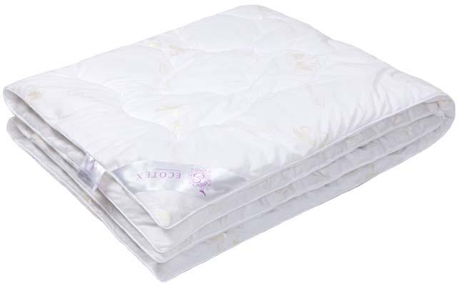 Одеяло Ecotex Лебяжий пух, наполнитель: синтепух, цвет: белый, 110 х 140 смОЛД- экологичность; - воздухопроницаемость; - долговечность; - легкость в уходе: легко стирается, быстро сохнет.