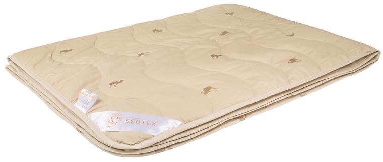 Одеяло Ecotex Караван, облегченное, наполнитель: верблюжья шерсть, цвет: светло-бежевый, 172 х 205 смООВТ2- сухое тепло: комфортный температурный режим в любое время года; - целебные свойства; - высокое содержание ланолина, благоприятно воздействующего на кожу, мышцы и суставы; - антистресс: успокаивает, снимает усталость; - экологичность и антистатичность.