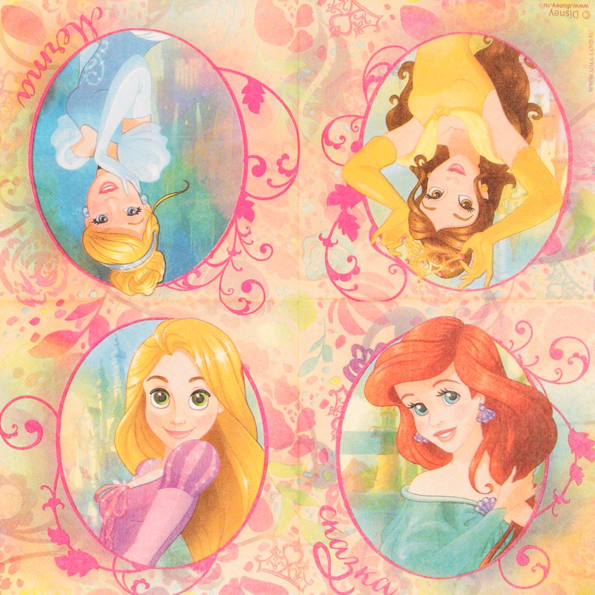Салфетка для декупажа Disney Принцессы. Сказочная мечта, 33 х 33 см1189469Салфетка для декупажа Disney Принцессы. Сказочная мечта, изготовленная из бумаги, оформлена ярким принтом. С помощью такой бумаги можно оформить практически любой предмет интерьера или сувенир к предстоящим зимним праздникам. Порадуйте себя и своих близких, выполненным шедевром своими руками! Декупаж - техника декорирования различных предметов, основанная на присоединении рисунка, картины или орнамента (обычного вырезанного) к предмету и далее покрытии полученной композиции лаком ради эффектности, сохранности и долговечности. Размер салфетки: 33 х 33 см.