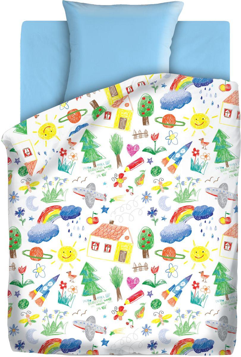 Комплект детского постельного белья Непоседа Радуга, 1,5-спальный, наволочки 70х70394748