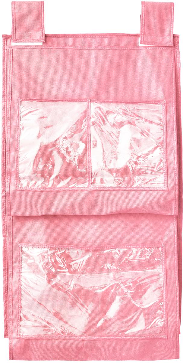 Кофр для сумок и аксессуаров Все на местах Minimalistic, цвет: розовый, 8 секций, 40 х 70 см1014019.Кофр для сумок и аксессуаров Все на местах Minimalistic выполнен из спанбонда и ПВХ. Модель крепится на штангу в шкафу или вешалку-плечики. Выделено 8 секций для хранения сумок, клатчей, театральных сумок, кошельков, зонтов, перчаток, палантинов, шарфов, шалей и т.д. Кофр решает проблему компактного хранения сумок и экономит место в шкафу. Размеры: 40 х 70 см.