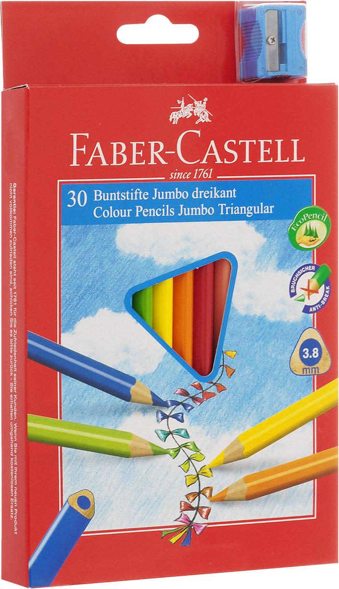 Faber-Castell Набор цветных карандашей Junior Grip 30 шт72523WDНабор цветных карандашей Faber-Castell Junior Grip - это великолепный подарок для юных художников!В наборе ваш ребенок найдет 30 карандашей из мягкого дерева, которые легко поддаются заточке. Карандаши ярких оттенков позволяют достигать четкости контуров, насыщенности штриховки и многообразия полутонов. Классический шестигранный корпус карандаша очень удобен для детей, в том числе пишущих левой рукой. Все карандаши покрыты особым лаком, изготовленным на водной основе, который не наносит вред окружающей среде и здоровью. В комплекте с карандашами идет точилка.Такой набор карандашей от Faber Castell - это великолепное европейское качество и отличный подарок вашему творческому ребенку!