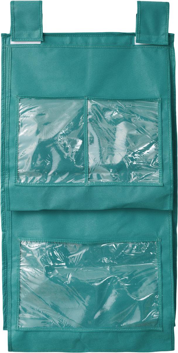 Кофр для сумок и аксессуаров Все на местах Minimalistic, цвет: бирюзовый, 8 секций, 40 х 70 см1012019.Кофр для сумок и аксессуаров Все на местах Minimalistic выполнен из спанбонда и ПВХ. Модель крепится на штангу в шкафу или вешалку-плечики. Выделено 8 секций для хранения сумок, клатчей, театральных сумок, кошельков, зонтов, перчаток, палантинов, шарфов, шалей и т.д. Кофр решает проблему компактного хранения сумок и экономит место в шкафу. Размеры: 40 х 70 см.