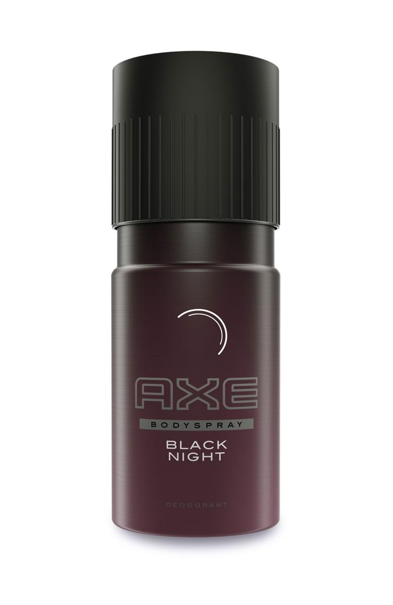 Axe Дезодорант спрей Black night 150 мл0100Аромат грандиозных ожиданий, спонтанных решений и смелых поступков появится в линейке AXE в январе 2016 года. Новые гель для душа и дезодорант AXE Black Night объединят в себе впечатления самой непредсказуемой ночи. В 2016 году Axe откроет дверь в новый, интригующий, непредсказуемый мир ночи. Чем эта ночь закончится? Кто знает. Но ты точно знаешь, как ее начать. Уже в январе премиальную линейку мужских средств AXE Black пополнит новый утонченный аромат AXE Black Night. AXE Black Night — это истории, которые будешь пересказывать годами, встречи, которые невозможно забыть, события, которые не хватало смелости даже представить… Окутывая обаянием интриги, Black Night освещает только неизведанные и далекие от надоевшей рутины пути. Аромат спонтанности AXE Black Night был создан любимым парфюмером модных домов Энн Готлиб и экспертами парфюмерного дома Firmenich. Пробуждая чувства утонченными пряными нотами имбиря и кардамона, он остается на теле до самого утра, сохраняя твой стиль лучше громких фраз — в тихих отголосках кашемирового дерева и амбры.AXE Black Night - новый аромат 2016 года.AXE Black Night - это истории, которые будешь пересказывать годами, встречи, которые невозможно забыть, события, которые не хватало смелости даже представить… Окутывая обаянием интриги, AXE Black Night освещает только неизведанные и далекие от надоевшей рутины пути. Аромат спонтанности AXE Black Night был создан любимым парфюмером модных домов Энн Готлиб и экспертами парфюмерного дома Firmenich. Пробуждая чувства утонченными пряными нотами имбиря и кардамона, он остается на теле до самого утра и сохраняет твой стиль лучше громких фраз - в тихих отголосках кашемирового дерева и амбры.