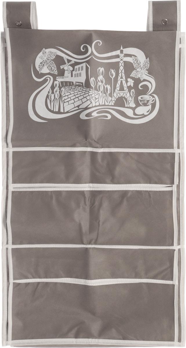 Кофр для сумок и аксессуаров Все на местах Париж, цвет: серый, белый, 8 секций, 40 х 70 см1003019.Кофр для сумок и аксессуаров Все на местах Париж выполнен из спанбонда и ПВХ. Модель крепится на штангу в шкафу или вешалку-плечики. Выделено 8 секций для хранения сумок, клатчей, театральных сумок, кошельков, зонтов, перчаток, палантинов, шарфов, шалей и т.д. Кофр решает проблему компактного хранения сумок и экономит место в шкафу. Размеры: 40 х 70 см.
