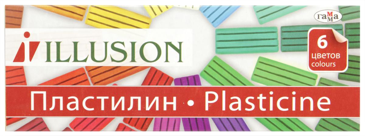 Гамма Пластилин Illusion 6 цветов280004Пластилин Гамма предназначен для лепки и моделирования. Лепка из пластилина не только доставляет удовольствие, но и способствует снятию мышечного и психического напряжения, развитию мелкой моторики рук и пространственного мышления. Пластилин изготовлен из нетоксичных компонентов и безопасен для малышей.