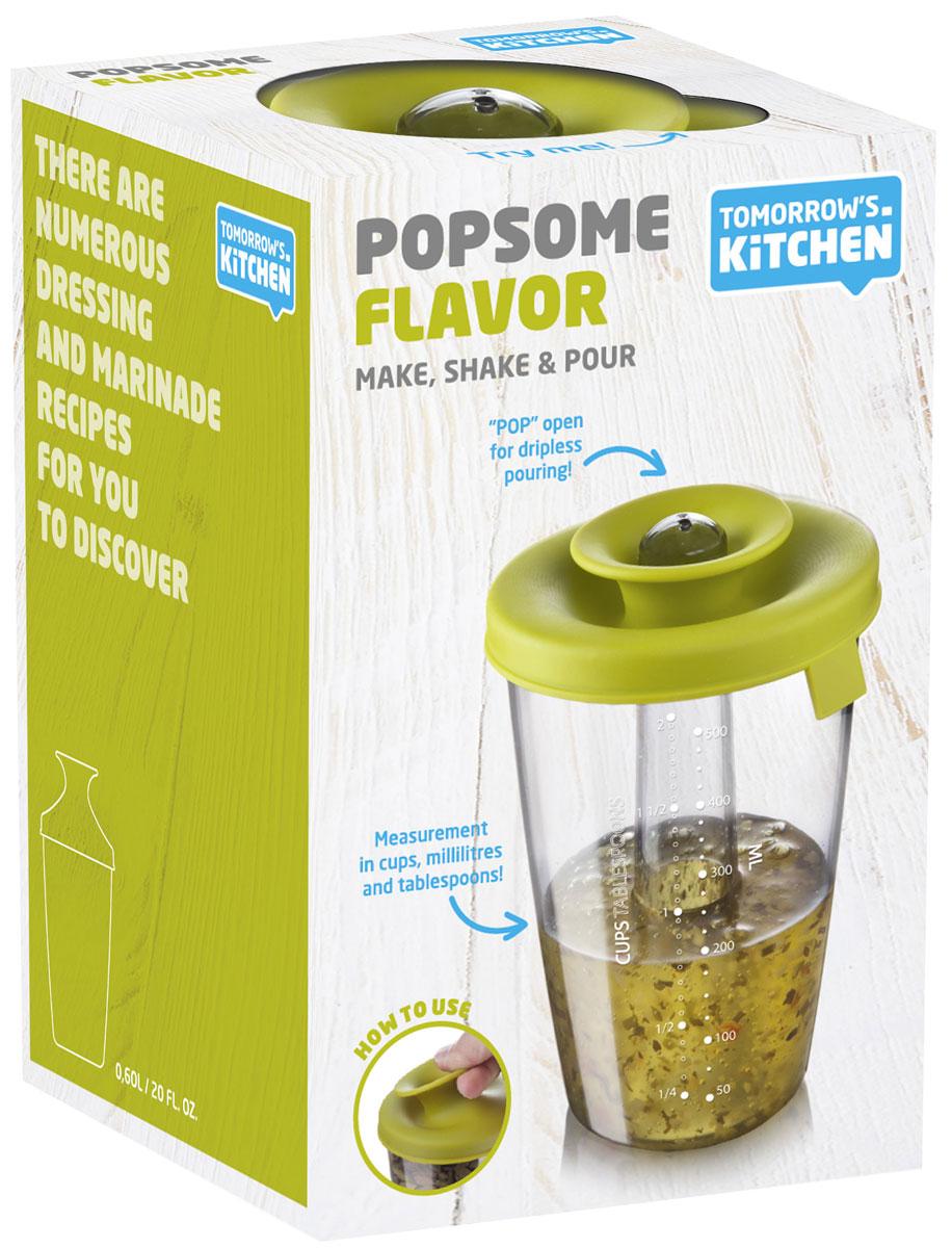 Емкость-шейкер для приготовления соусов и маринадов Tomorrows Kitchen PopSome2833660Шейкер серии PopSome изготовлен из высококачественного пластика. Он идеально подходит для приготовления соусов и маринадов. Для этого у него есть разметка (чашка, мл, столовая ложка) и герметичная крышка. Характеристики: Материал: пластик, резина. Размер емкости: 16 см x 11 см х 11 см. Размер упаковки: 16 см x 11,5 см x 11 см.