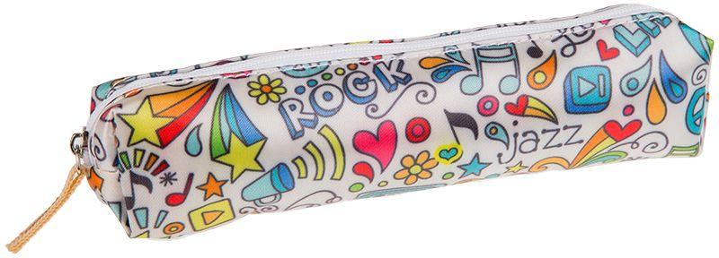 ArtSpace Пенал-косметичка Music цвет белый72523WDУдобный школьный пенал для хранения письменных и чертежных принадлежностей. Имеет одно отделение на молнии
