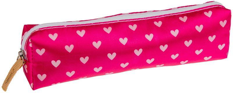 ArtSpace Пенал-косметичка Сердце цвет розовый37493Удобный школьный пенал для хранения письменных и чертежных принадлежностей. Имеет одно отделение на молнии