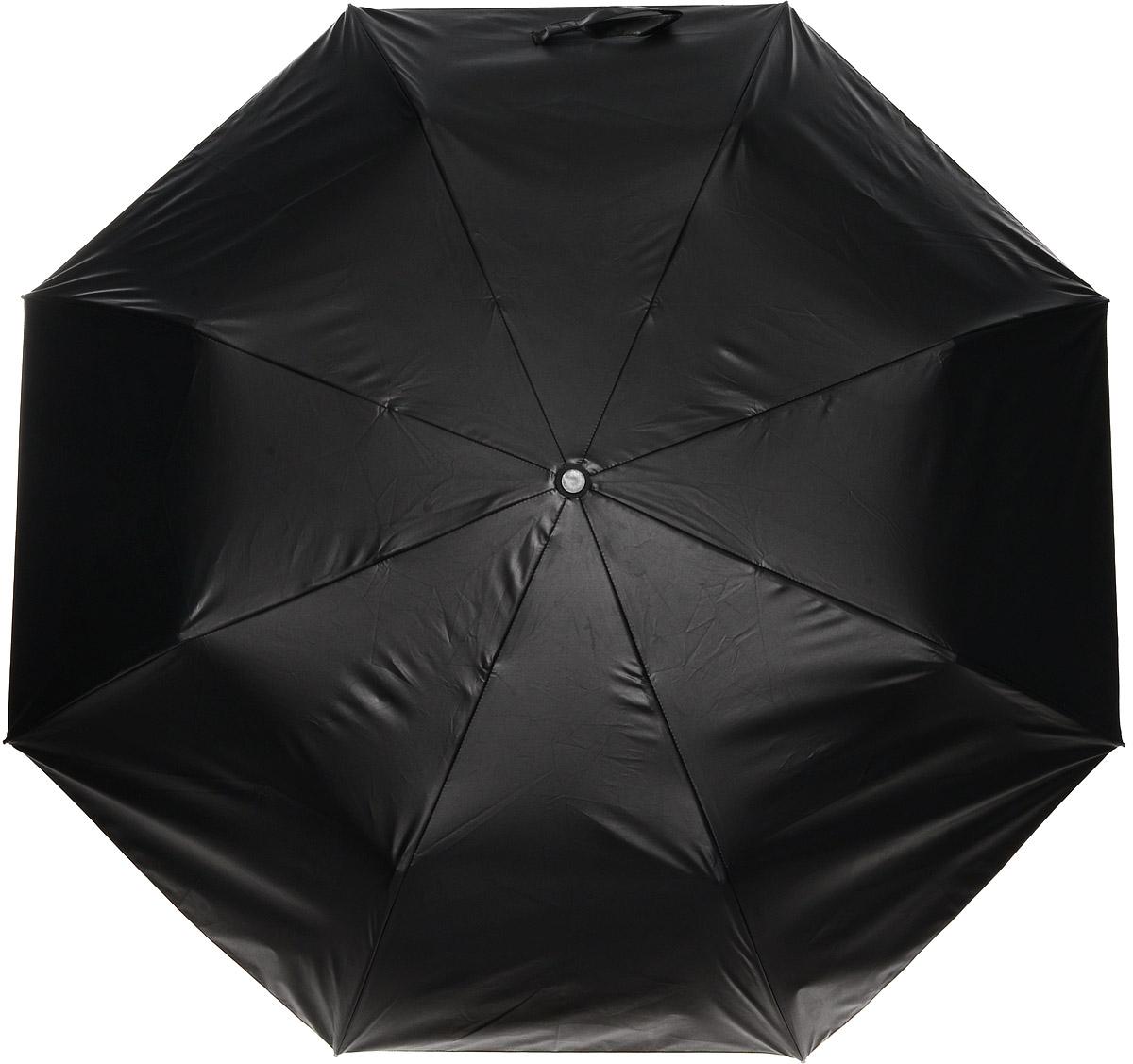 Зонт женский Vera Victoria Vito, механика, 3 сложения, цвет: черный, желтый. 20-700-43.7-12 navyЗонт Vera Victoria Vito надежно защитит вас от дождя. Купол выполнен из высококачественного нейлона, который не пропускает воду. Внутренняя сторона купола оформлена оригинальным принтом. Каркас зонта и спицы выполнены из высококачественного металла.Удобная ручка выполнена из пластика и дополнена эластичной резинкой. Зонт имеет автоматический тип сложения: открывается и закрывается при нажатии на кнопку. В комплект входит чехол.
